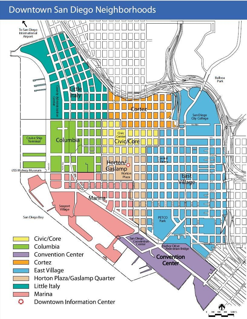 Downtown San Diego Map