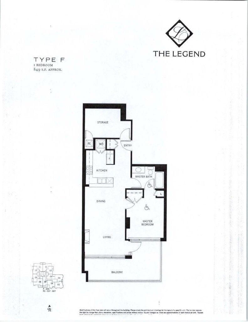 The Legend Floor Plans
