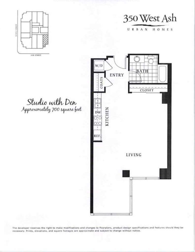 350 West Ash San Diego Floor Plans