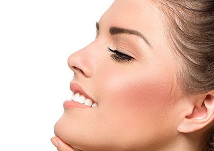 woman with non-surgical plastic surgery