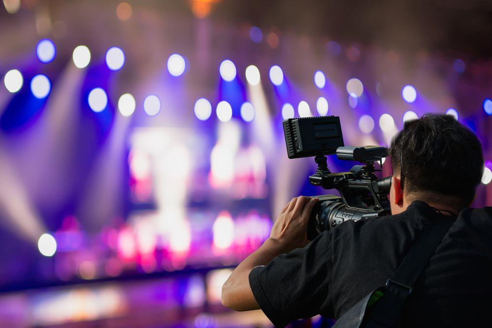 cameraman at an event