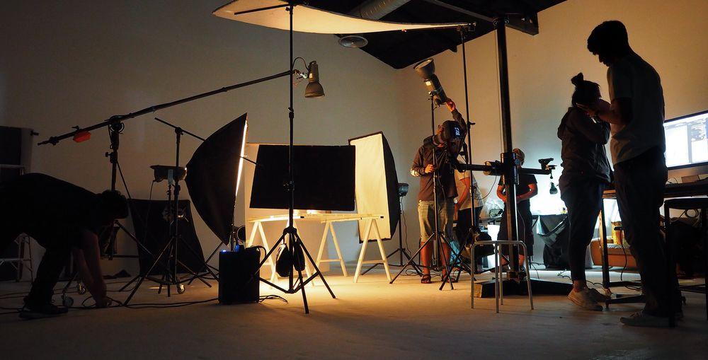 video shoot setup
