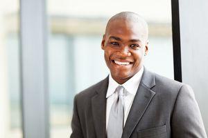 corporate man smiling