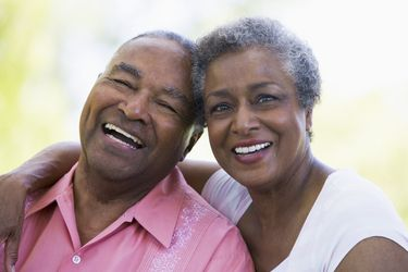 Elderly Couple Smiling at the Camera