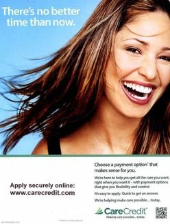 Girl smiling on banner ads